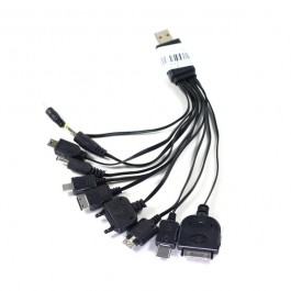 10in1 USB MULTI-CHARGE CABLE 10 MOBILE PHONE MP3 MP4 PSP NDSL
