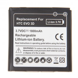 3.7V 1800mAh Rechargeable Battery for HTC EVO 3D