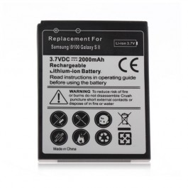 3.7V 2000mAh Rechargeable Lithium-ion Battery for Samsung i9100 Galaxy S2