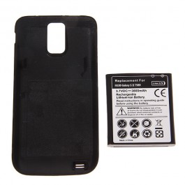 3.7V 3800mAh Rechargeable Extended Battery + Cover for i9100 Galaxy SII T989
