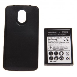 3.7V 3800mAh Rechargeable Extended Battery + Cover for i9250 Galaxy Nexus Prime