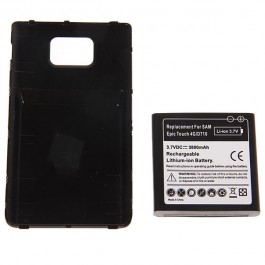 3.7V 3800mAh Rechargeable Extended Battery + Cover for Samsung D710 Epic 4G Touch