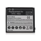 3.7V 1300mAh Rechargeable Lithium-ion Battery for HTC HD2