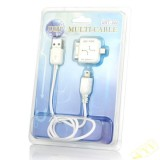 Multi-Cable for iPhone 3GS/IP4/HTC/BB/All of The Micro USB (45CM-Length)